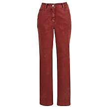 Buy Zaffiri Lucilla Corduroy Trousers, Regular Length, Red Online at johnlewis.com