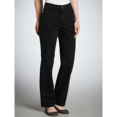 Buy Zaffiri Lucilla Straight Leg Jeans, Short Length, Black Online at johnlewis.com