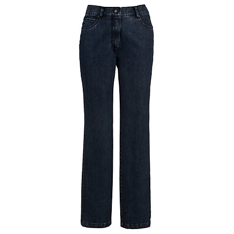Buy Zaffiri Mandy Straight Leg Jeans, Short Length, Dark Blue Online at johnlewis.com