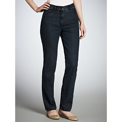 Buy Zaffiri Mandy Straight Leg Jeans, Regular Length, Dark Blue Online at johnlewis.com