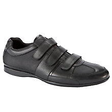 Buy Dune Penfold 3 Velcro Strap Trainers, Black Online at johnlewis.com