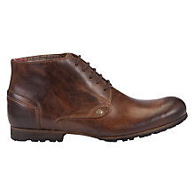 Buy Dune Cradled Round Toe Leather Chukka Boots Online at johnlewis.com