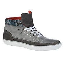 Buy Dune Saxo Suede Knit Trainers, Grey Online at johnlewis.com