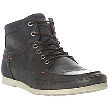 Buy Dune Sparodic Leather Hi Top Trainers Online at johnlewis.com