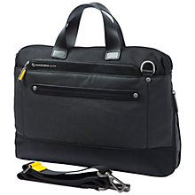 "Buy Mandarina Duck Cabrio 13.3"" Laptop and Tablet Briefcase, Black, Medium Online at johnlewis.com"
