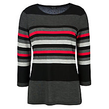Buy Gerry Weber Stripe Tunic Top, Black/Grey/Pink Online at johnlewis.com
