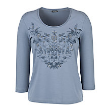 Buy Gerry Weber Embellished T-Shirt, Steel Blue Online at johnlewis.com