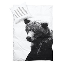 Buy By Nord Bear Standard Pillowcase, White Online at johnlewis.com