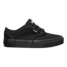 Buy Vans Atwood Canvas Trainers, Black Online at johnlewis.com