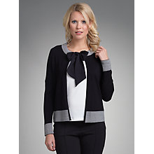 Buy Betty Barclay Striped Cuff Cardigan, Black Online at johnlewis.com