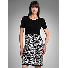 Buy Betty Barclay Knitted Dress, Black/Cream Online at johnlewis.com