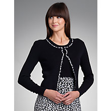 Buy Betty Barclay Ribbed Knitted Cardigan, Black/Cream Online at johnlewis.com