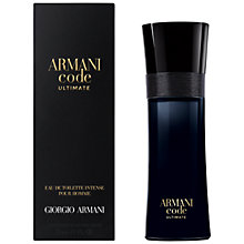 Buy ARMANI Code Ultimate Eau de Toilette Intense Online at johnlewis.com