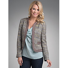 Buy Betty Barclay Edge To Edge Jacket, Taupe/Green Online at johnlewis.com