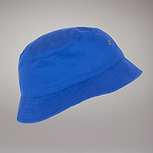 Buy Dagfa School Nottingham Sun Hat, Royal Blue Online at johnlewis.com