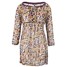 Buy Sandwich Leaf Print Tunic Top, Moss Green Online at johnlewis.com