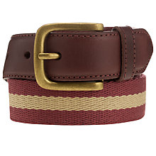 Buy John Lewis Stripe Chino Belt, Burgundy Online at johnlewis.com