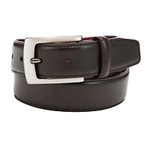 Buy John Lewis Twill Lined Leather Belt Online at johnlewis.com