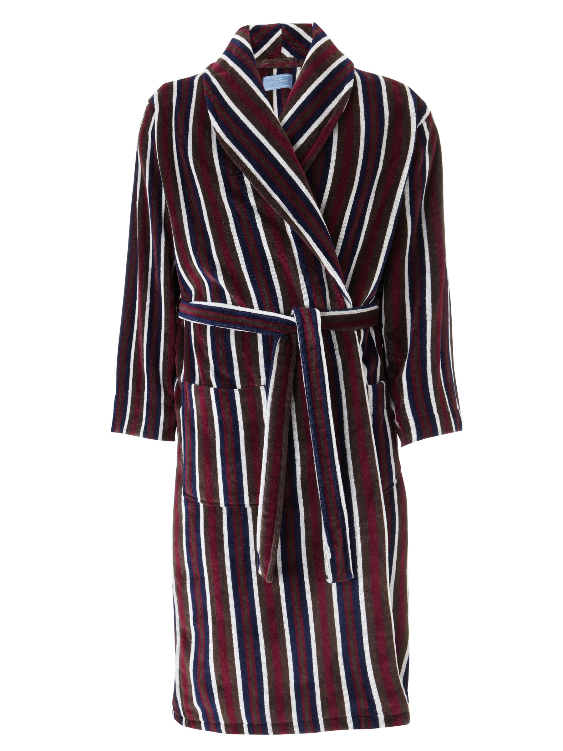 John Lewis Stripe Velour Robe