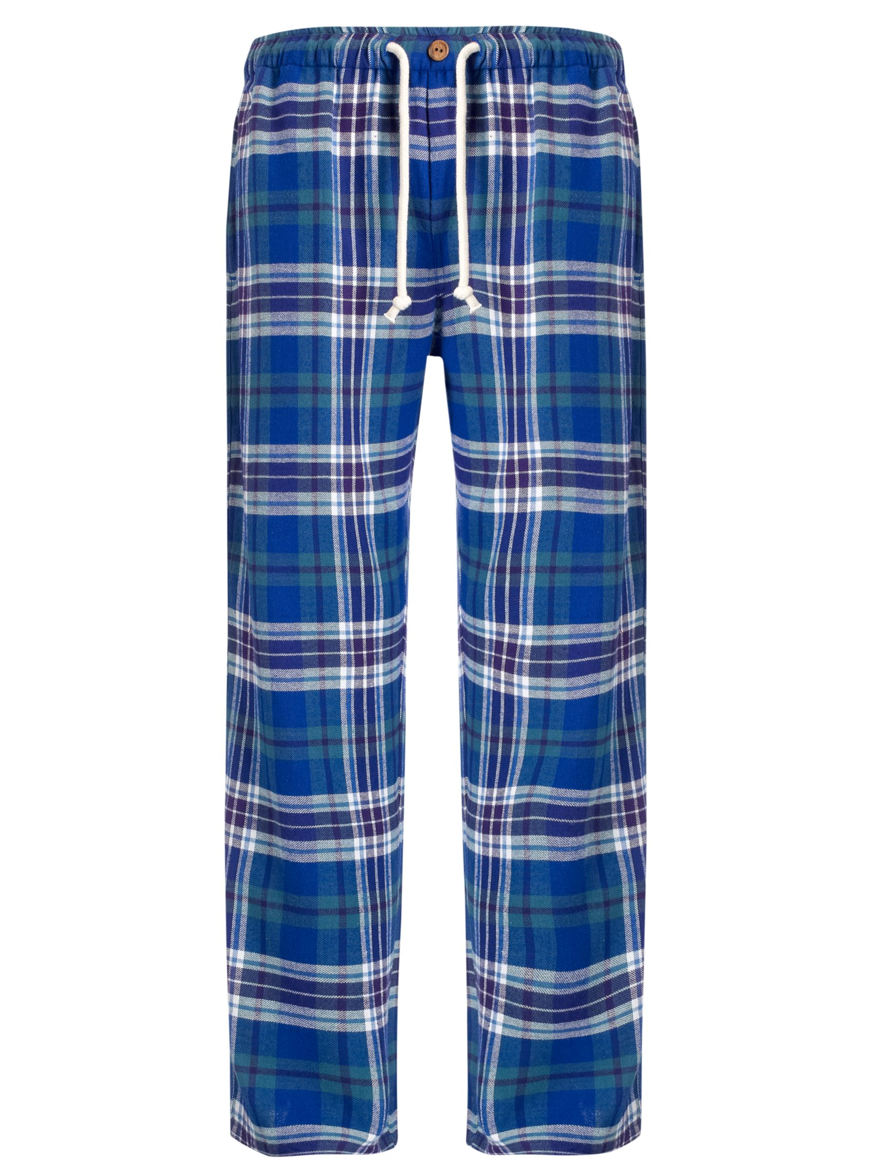 John Lewis James Check Lounge Pants, Purple