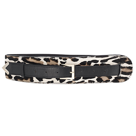 Buy Somerset by Alice Temperley Birch Pony Leather Tapering Belt, Animal Online at johnlewis.com