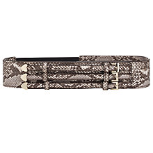 Buy Somerset by Alice Temperley Belmont Wide Triple Buckle Belt, Snake Online at johnlewis.com