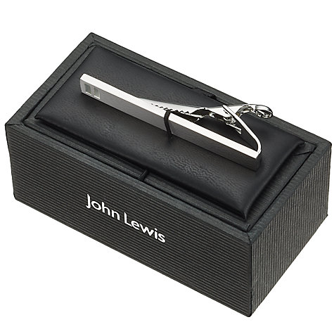 Buy John Lewis Rhodium Tie Pin Online at johnlewis.com