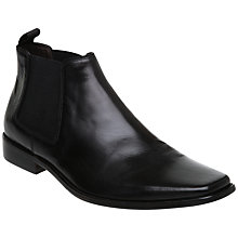 Buy Dune Arkwright Leather Chelsea Boots, Black Online at johnlewis.com