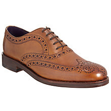 Buy Barker for John Lewis Aldgate Brogue Leather Oxford Shoes, Cedar Online at johnlewis.com
