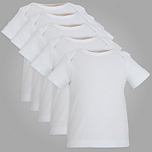 Buy John Lewis Baby Vests, Pack of 5, White Online at johnlewis.com