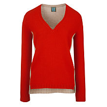 Buy Bensimon Ariel Jumper, Rouge/Beige Online at johnlewis.com