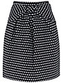 Hoss Intropia Spotty Skirt, Black