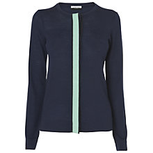 Buy Jaeger Grosgrain Cardigan, Navy Online at johnlewis.com