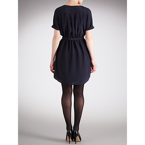 Buy Pyrus Louise Ruffle Front Dress, Petrol Online at johnlewis.com