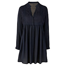 Buy Pyrus Zimmer Embroidered Dress, Petrol Online at johnlewis.com