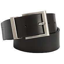 Buy Hugo Boss Bud Leather Belt, Black Online at johnlewis.com