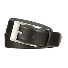 Buy Hugo Boss Brandon Leather Belt, Black Online at johnlewis.com