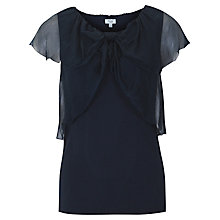 Buy Hoss Intropia Chiffon Bow Jersey Top, Night Online at johnlewis.com