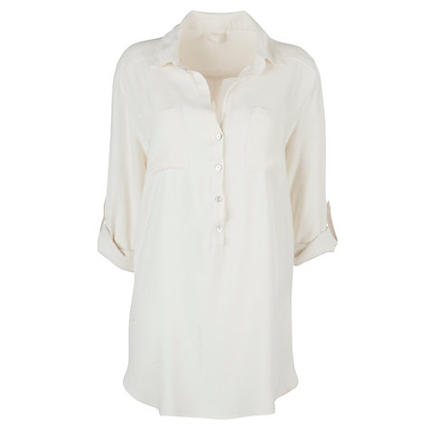 Buy Ghost Spirit Debbie Crepe Shirt, Ivory Online at johnlewis.com