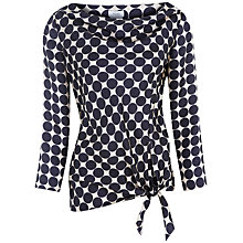 Buy Hoss Intropia Silk Spotty Blouse, Black Online at johnlewis.com