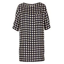 Buy Hoss Intropia Silk Spotty Tunic Dress, Black Online at johnlewis.com