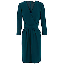 Buy Hoss Intropia Twist Front Dress, Turquoise Online at johnlewis.com