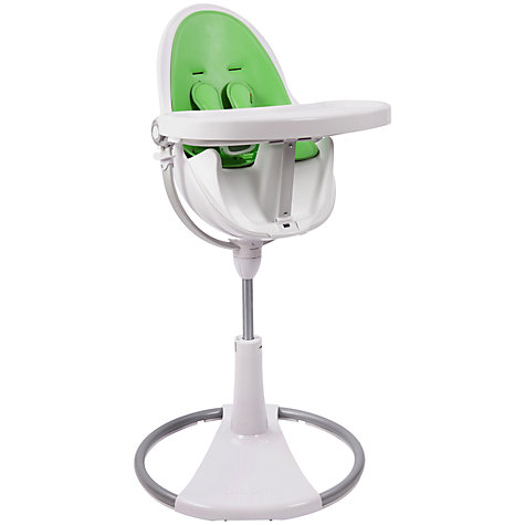 Buy bloom Fresco Chrome Contemporary Leatherette Baby Chair, White Online at johnlewis.com
