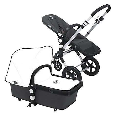 Buy Bugaboo Cameleon3 Pushchair Base Unit and Carrycot, Black Online at johnlewis.com