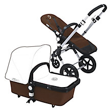 Buy Bugaboo Cameleon3 Pushchair Base Unit and Carrycot, Dark Brown Online at johnlewis.com