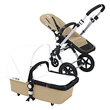 Buy Bugaboo Cameleon3 Pushchair Base Unit and Carrycot, Sand Online at johnlewis.com
