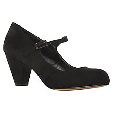 Buy Carvela Ant Suedette Mary Jane Mid Heel Court Shoes, Black Online at johnlewis.com