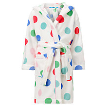 Buy John Lewis Girl All Over Spot Robe, Multi Online at johnlewis.com