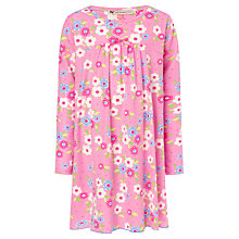 Buy John Lewis Girl Long Sleeved Floral Nightie, Pink Online at johnlewis.com