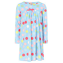 Buy John Lewis Girl All Over Spot Nightie, Blue/Multi Online at johnlewis.com